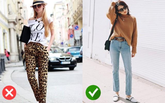 Thay vì chọn quần da báo trông như bộ đồ ngủ, quần jean sẽ giúp bạn trở nên phong cách hơn
