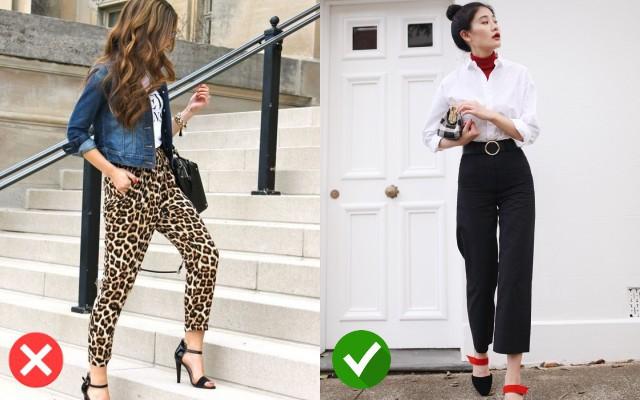 Nếu dùng quần da báo kết hợp nhiều phụ kiện đẹp sẽ làm bạn trở nên kém sang hơn, thay vào đó hãy chọn quần tay để trở nên thu hút hơn nhé