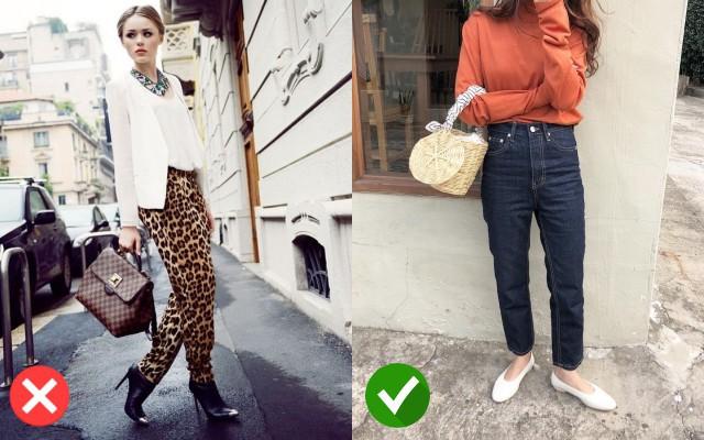 Quần da báo kén giày dép, trong khi đó quần jean có thể kết hợp nhiều loại giày dép khác nhau