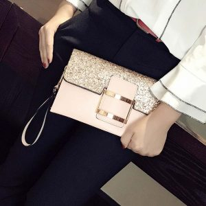 Túi xách, ví cầm tay dự tiệc da nữ thời trang sang trọng - 2