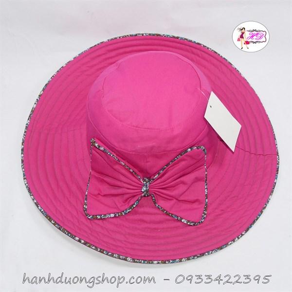 Nón rộng vành nữ chất liệu vải bền đẹp thời trang