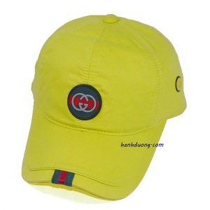 nón kết gucci logo tròn màu vàng
