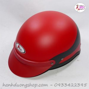 Mũ bảo hiểm kim Minh Aka phối 2 màu đen đỏ thời trang