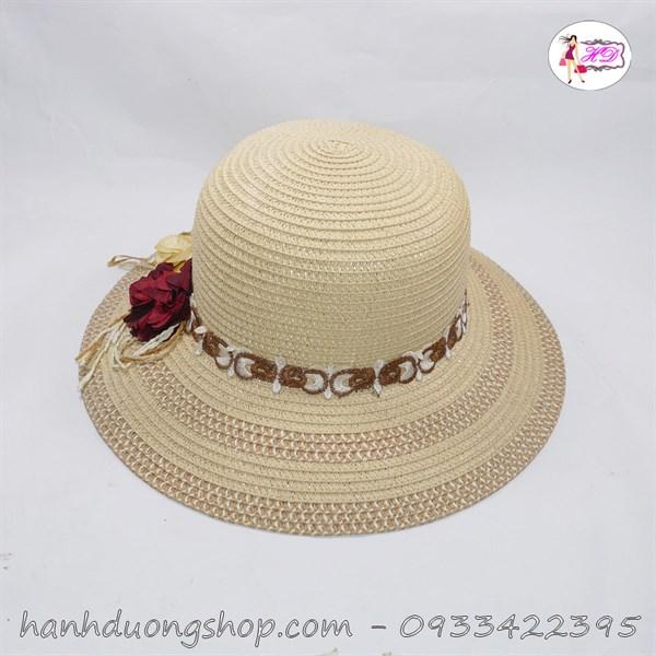 Mũ đi biển nơ hoa đẹp