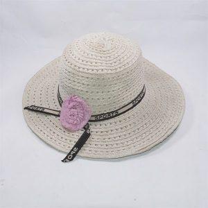 Mũ đi biển nơ hoa tím