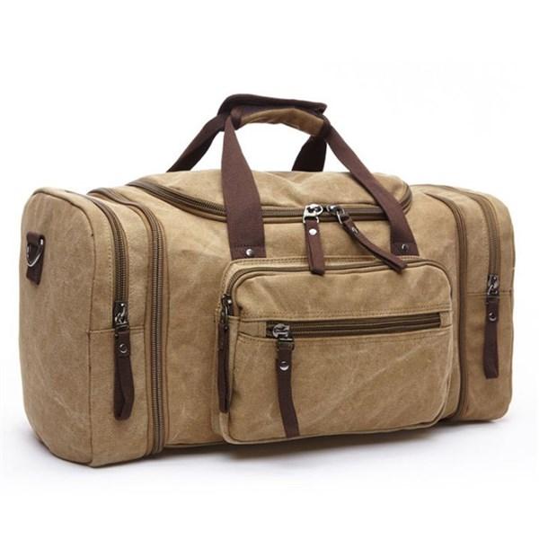 Túi xách du lịch vải bố, nhiều ngăn, có dây đeo - Hạnh Dương Shop