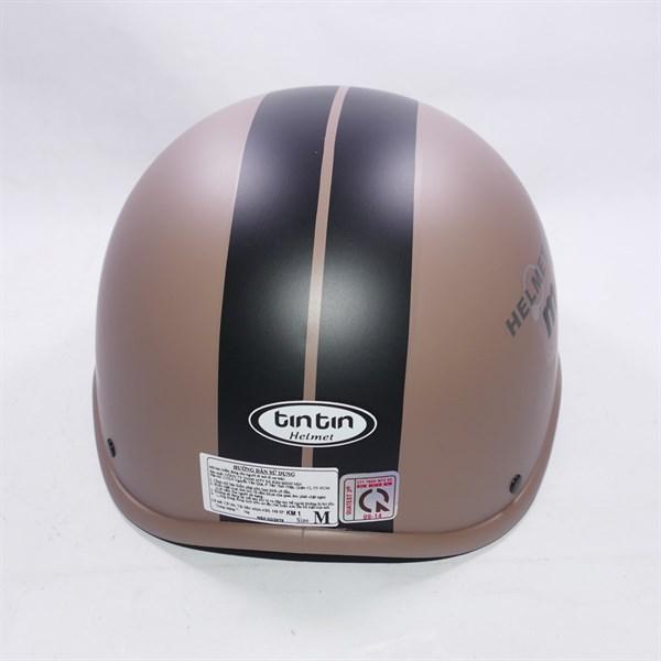 Mũ bảo hiểm tin tin sọc giữa thời trang in chữ Moto