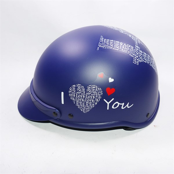 Mũ bảo hiểm cao cấp hàng công ty in chữ I Love You