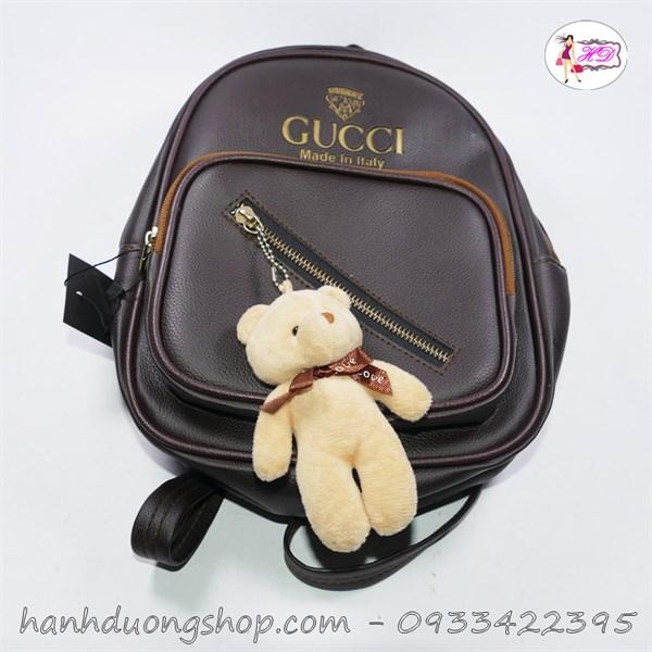 Balo Gucci kèm gấu bông mini đẹp mắt - Hạnh Dương