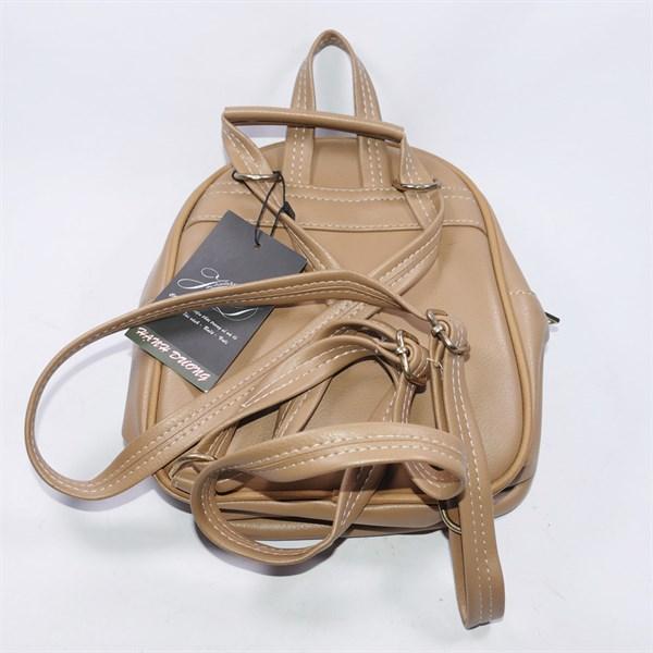 Balo da nữ 2 khóa gài độc đáo, chất liệu da bền đẹp - Hạnh Dương Shop