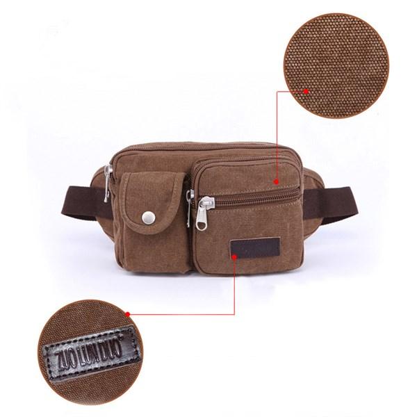 Túi đeo bụng vải bố bền chắc - Hạnh Dương Shop
