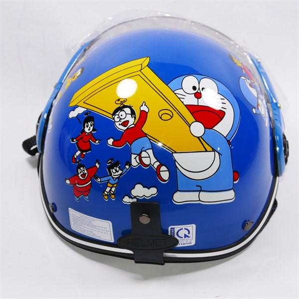 Mũ bảo hiểm trẻ em có kiếng họa tiết hoạt hình dễ thương